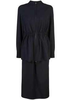 Tibi plain weave double layer dress