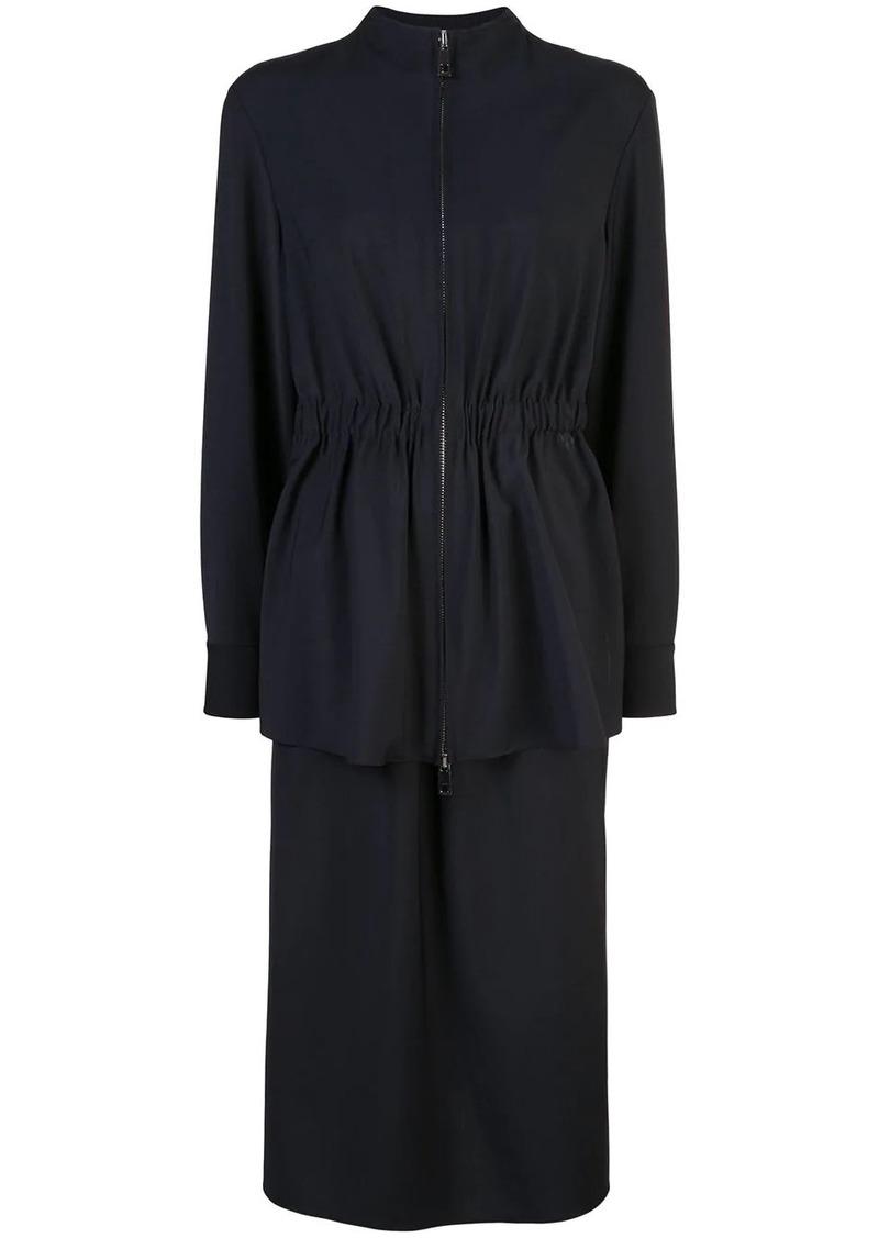 Tibi plain weave double layer dress