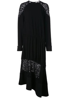 Tibi Guipure lace panel dress
