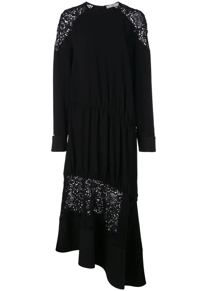 Tibi Guipure lace panel dress