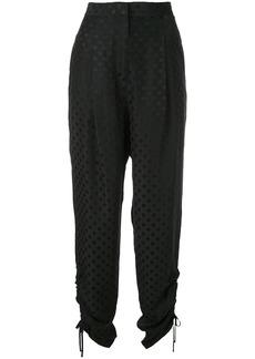 Tibi polka dot tapered trousers