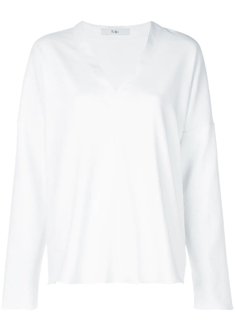 Tibi draped V-neck top