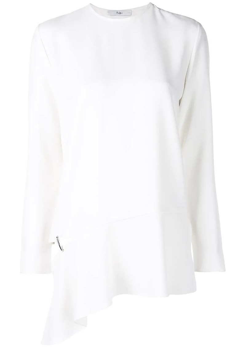 Tibi long sleeve detached hem blouse