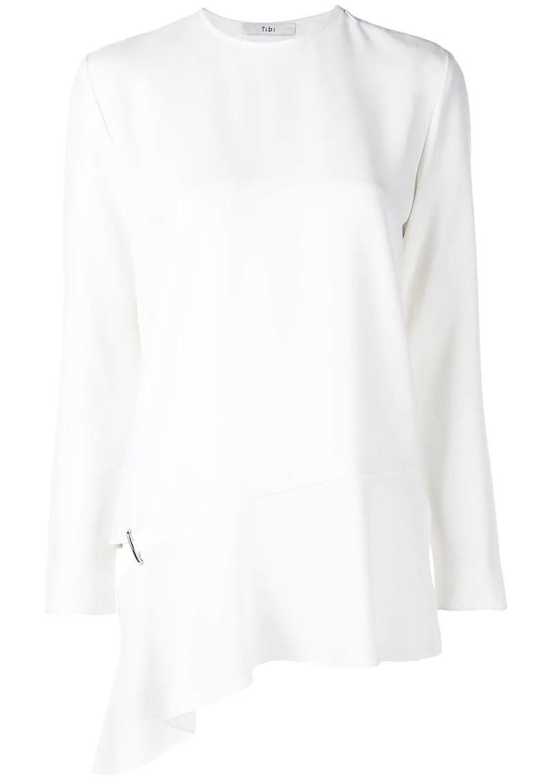 Tibi long sleeve detached hem blouse