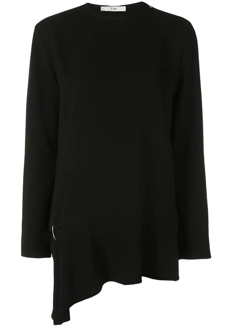 Tibi asymmetric detached hem top