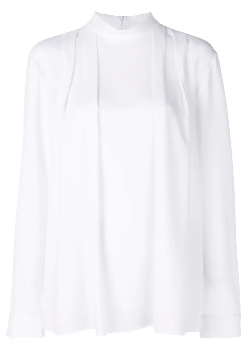 Tibi Savanna crepe pleated top