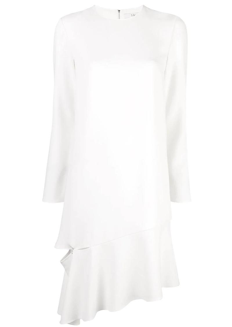 Tibi shift dress with detached hem
