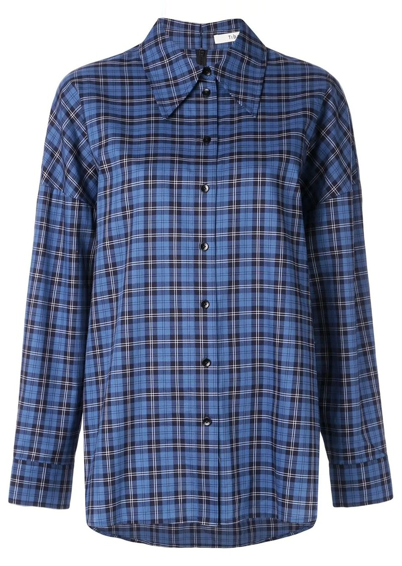Tibi Kingston plaid shirt