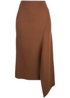 Tibi asymmetric Origami skirt
