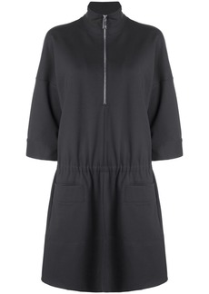Tibi stretch knit zip front dress