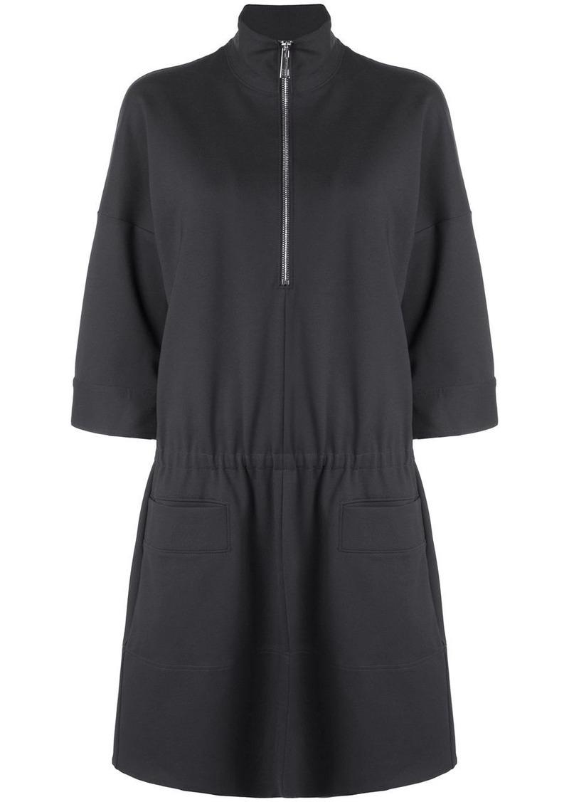 Tibi stretch knit zip front dress
