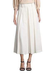 Tibi Agathe Pleated High-Waist Skirt