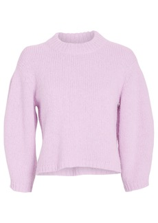 Tibi Airy Alpaca Cropped Sweater