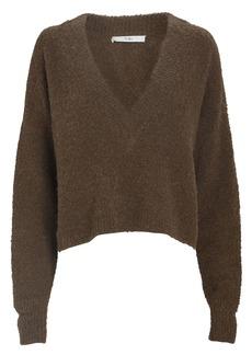 Tibi Bouclé Alpaca Cropped Sweater