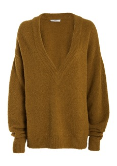 Tibi Airy Alpaca V-Neck Sweater