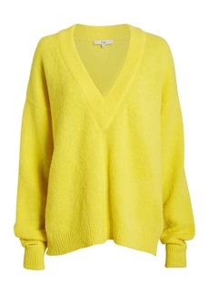Tibi Airy Alpaca V-Neck Sweater