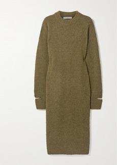 Tibi Alpaca-blend Bouclé Midi Dress