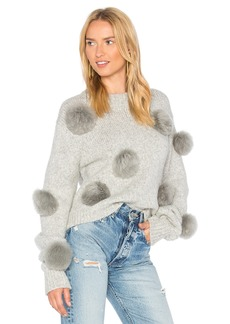 Tibi Alpaca Cropped Pullover
