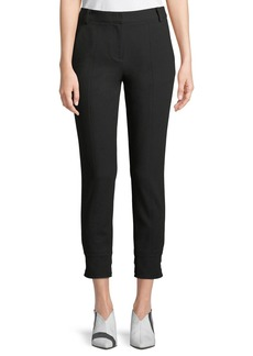 Tibi Anson Stretch Skinny Pants with Buckles
