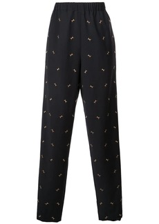 Tibi ant embroidery pull on pants