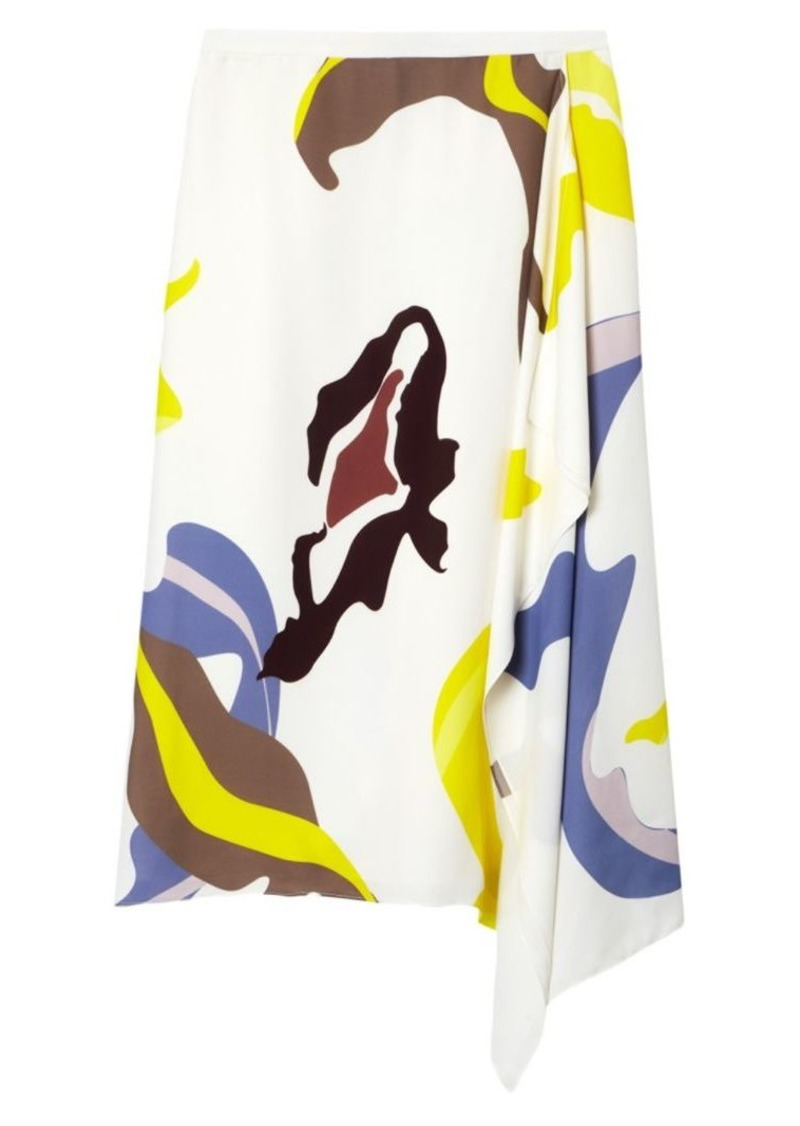 Tibi Ant Farm-Print Asymmetrical Skirt