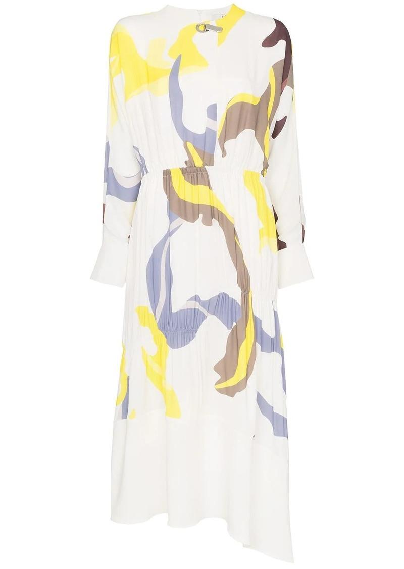 Tibi Ant Farm print panel dress