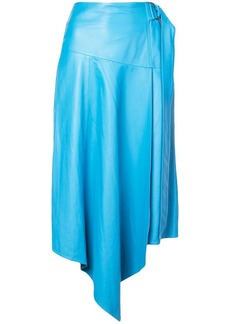 Tibi asymmetric draped midi skirt