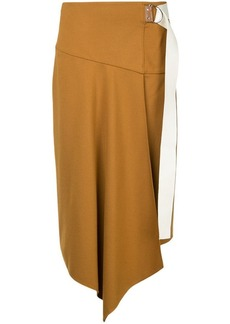 Tibi asymmetric high-waist skirt