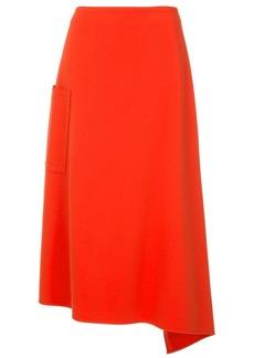 Tibi asymmetric stretch knit skirt