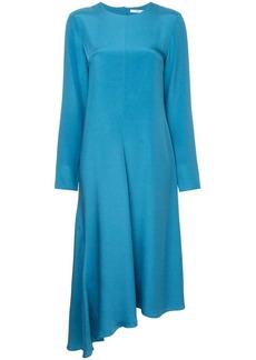 Tibi asymmetrical dress fringe back