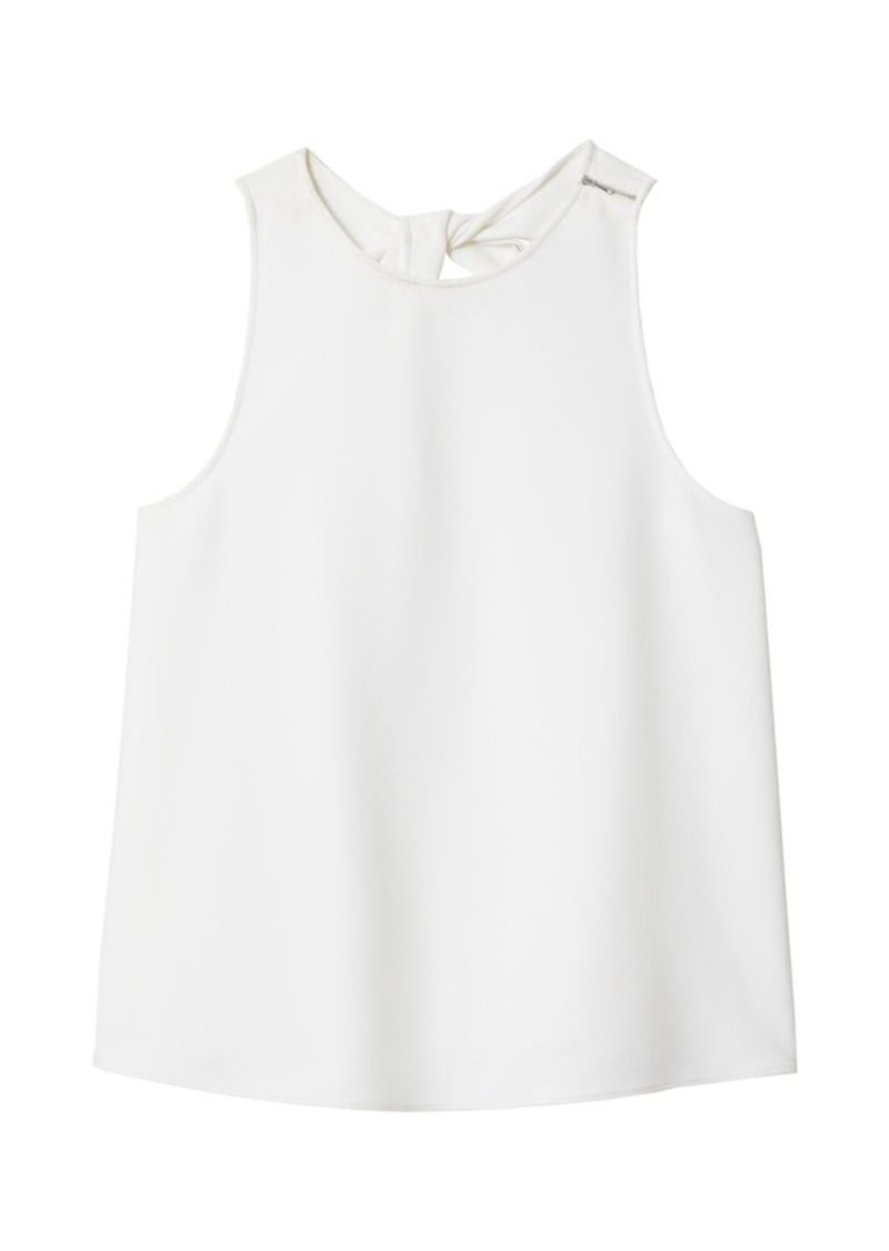 Tibi Back Twist Crepe Tank