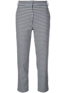 Tibi Beatle gingham cropped trousers