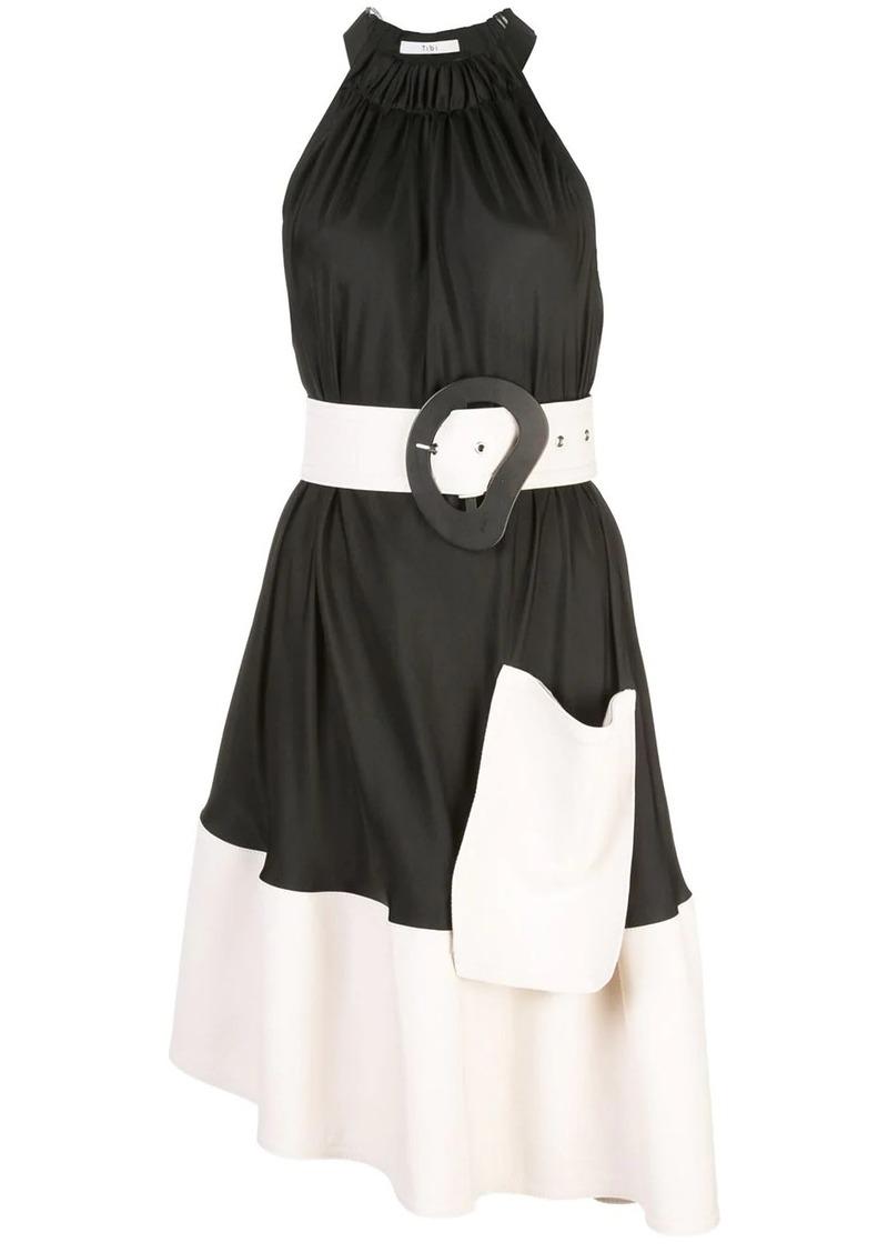 Tibi belted draped dress
