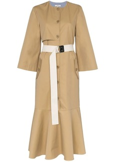 Tibi belted trench coat midi dress