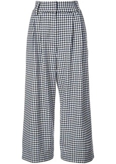 Tibi Bianca gingham cropped trousers