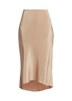 Tibi Bias Silk Slip Skirt