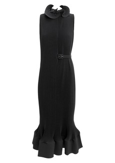Tibi Black Pleated Dress
