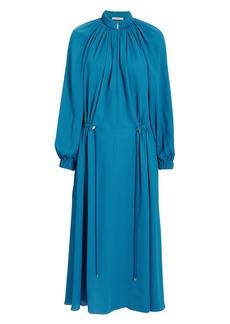 Tibi Blue Drawstring Dress