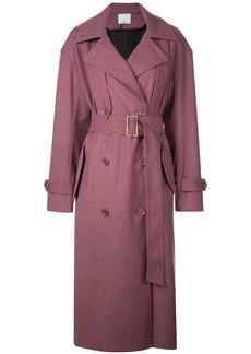 Tibi Bonded lightweight trench coat