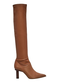 Tibi Caleb Tan Leather Boots
