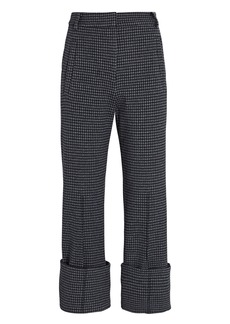 Tibi Camille Cropped Check Cuff Pants