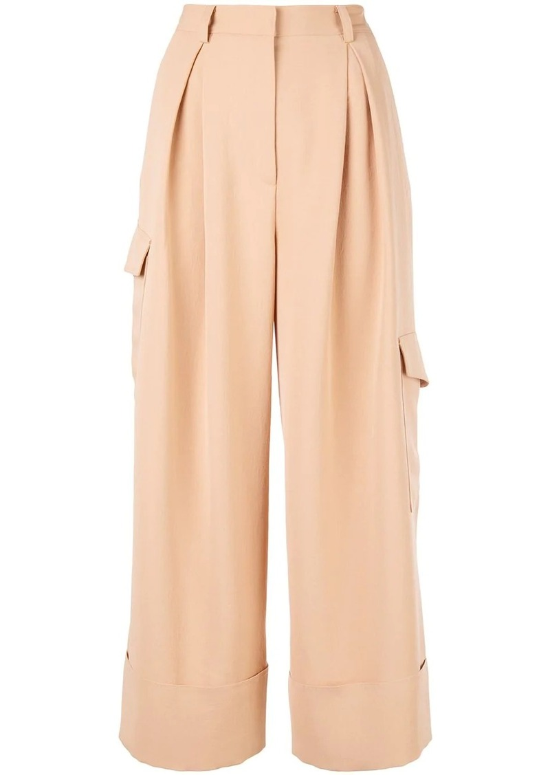 Tibi cargo pocket cropped trousers