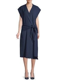 Tibi Chalky Dolman-Sleeve Wrap Dress