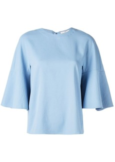Tibi Chalky drape ruffle sleeve top