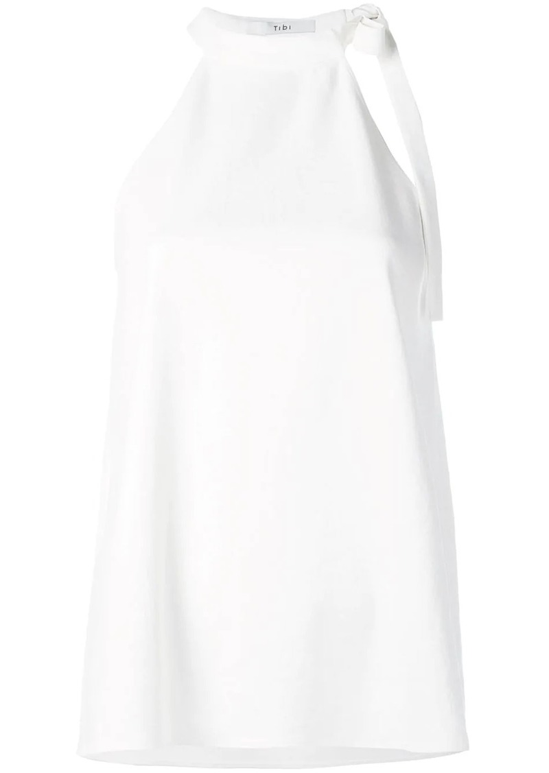 Tibi Chalky draped halter neck top