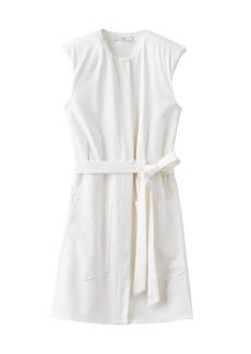 Tibi Chalky Draped Sleeveless Mini Shirtdress