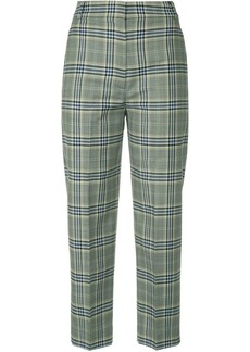 Tibi checked tailored cropped trousers
