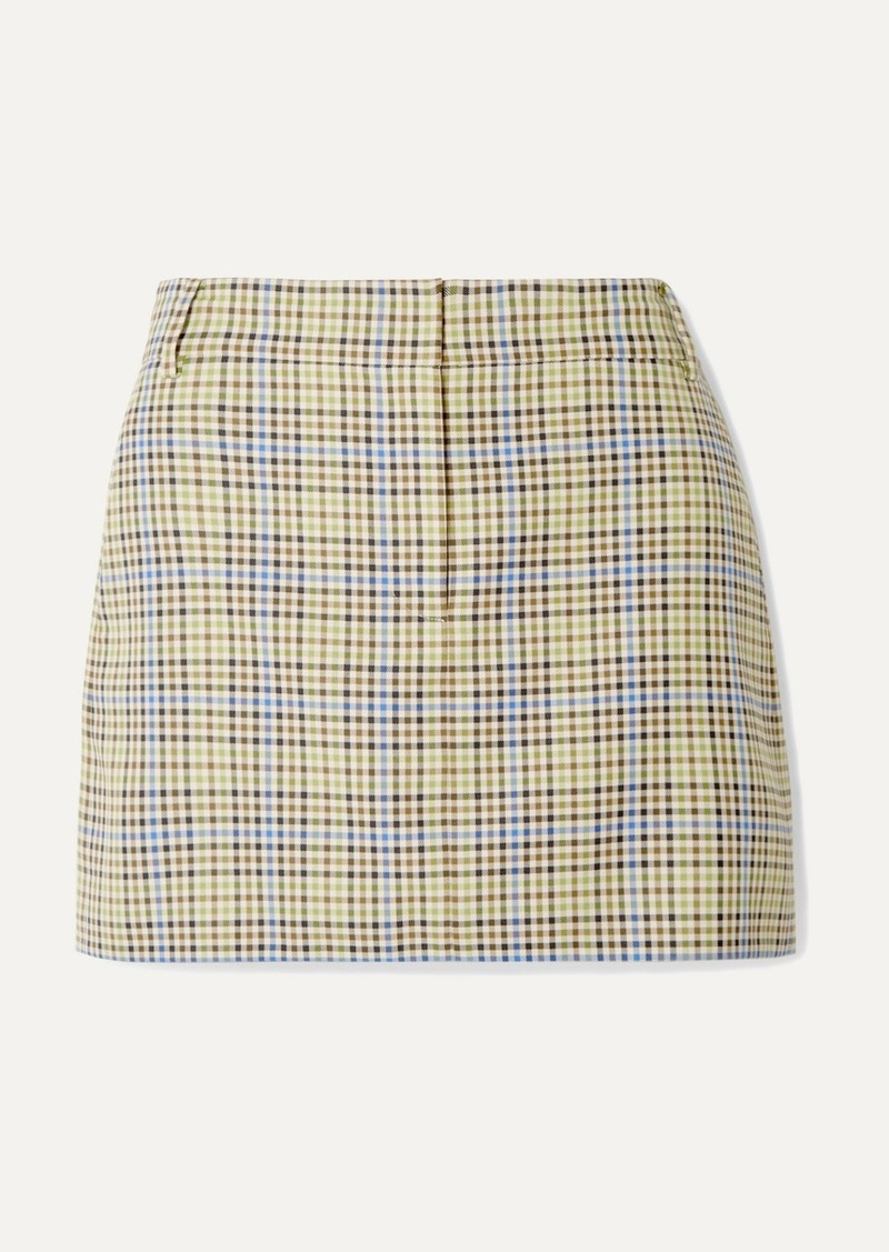 Tibi Checked Woven Mini Skirt