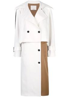 Tibi colour block trench coat