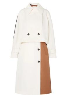 Tibi Convertible Color-block Twill Trench Coat